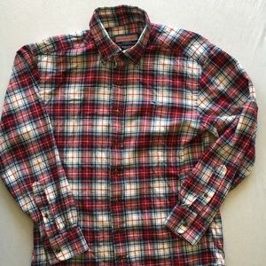 Vineyard Vines Flannel Whale Shirt Men's Small